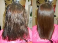 Кератиновое выпрямление волос: волосы гладкие как шелк!